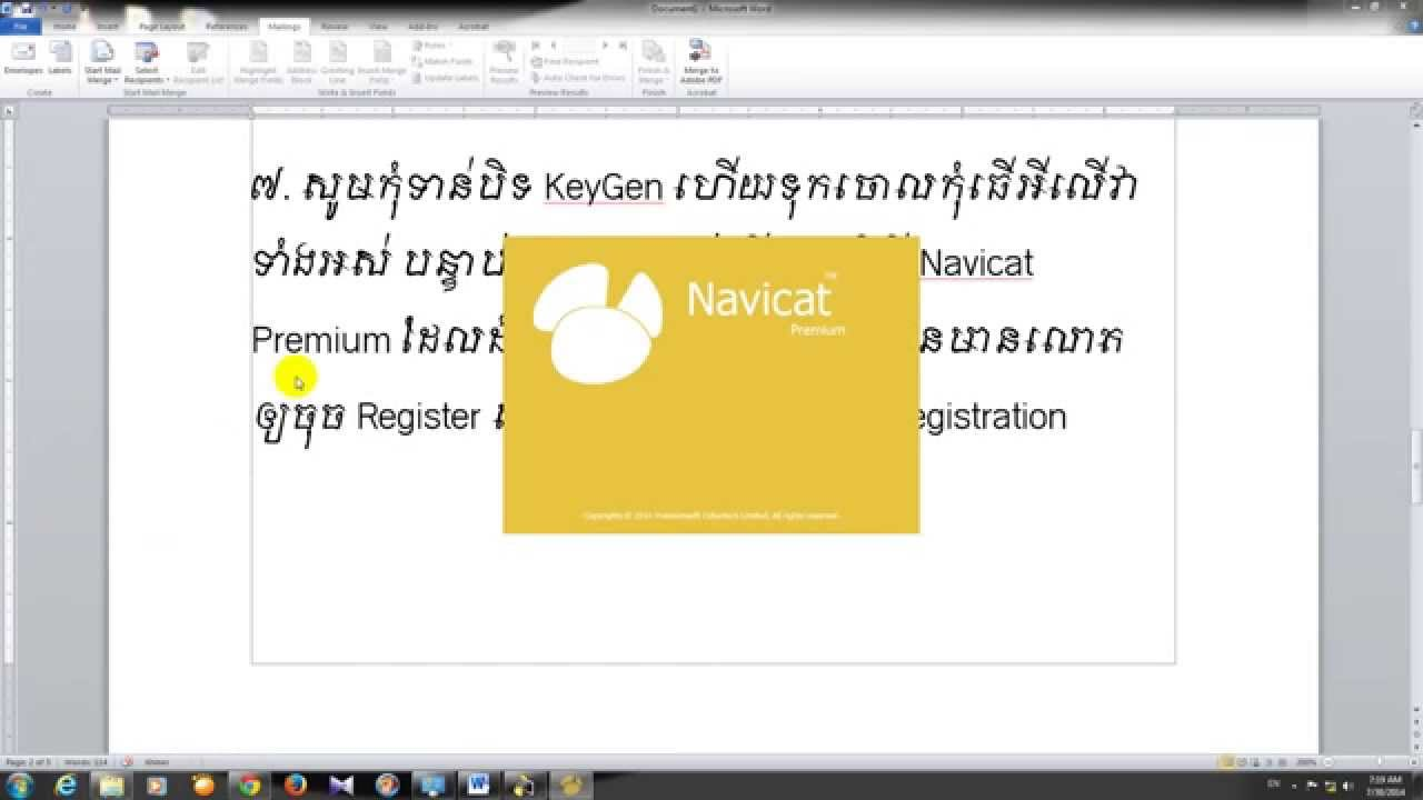 navicat premium 11.0.8 serial number