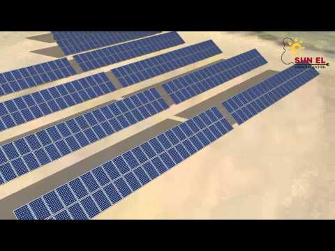 100KW PV project 3D presentation