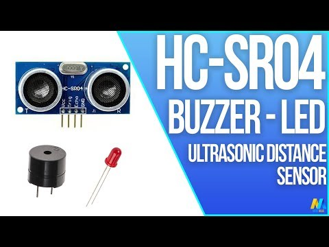 Arduino Tutorial - Ultrasonic Sensor HC-SR04 with Buzzer and LED | Mert Arduino and Tech