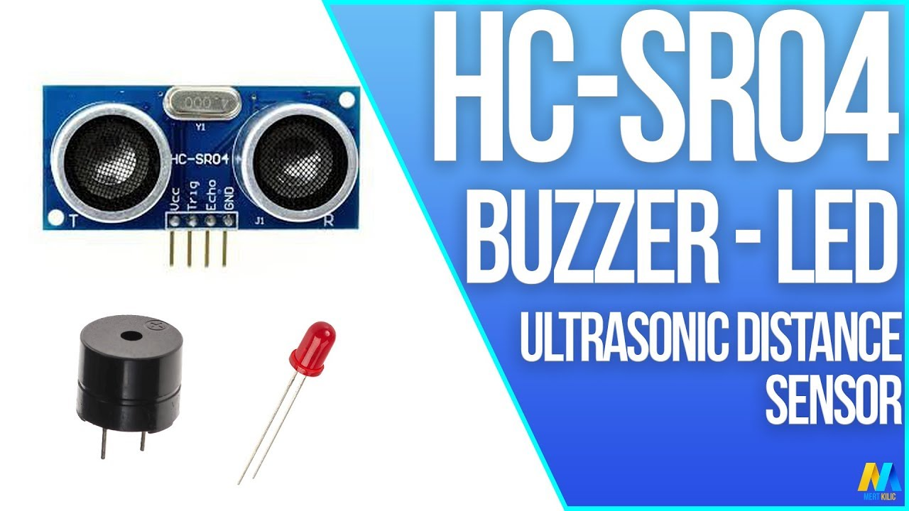 Using Ultrasonic Distance Sensor Hc Sr04 With Buzzer Led And Simple Interface Circuit Diagram Arduino