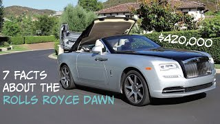 90 Sec ROLLS ROYCE Dawn Cool Facts!!  ($420,000 Car!!)