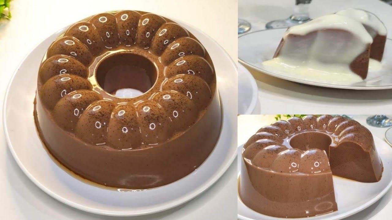 Resep PUDING COKLAT SUSU Saus Vanilla ENAK LEMBUT DAN LUMER BANGET - Makanan Penutup Terenak