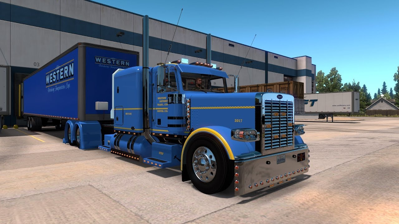 American Truck Simulator 389 Pete (Lope Idle Engines & Sounds) Fleet Run