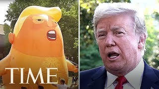 president trump faces mass protests in london time