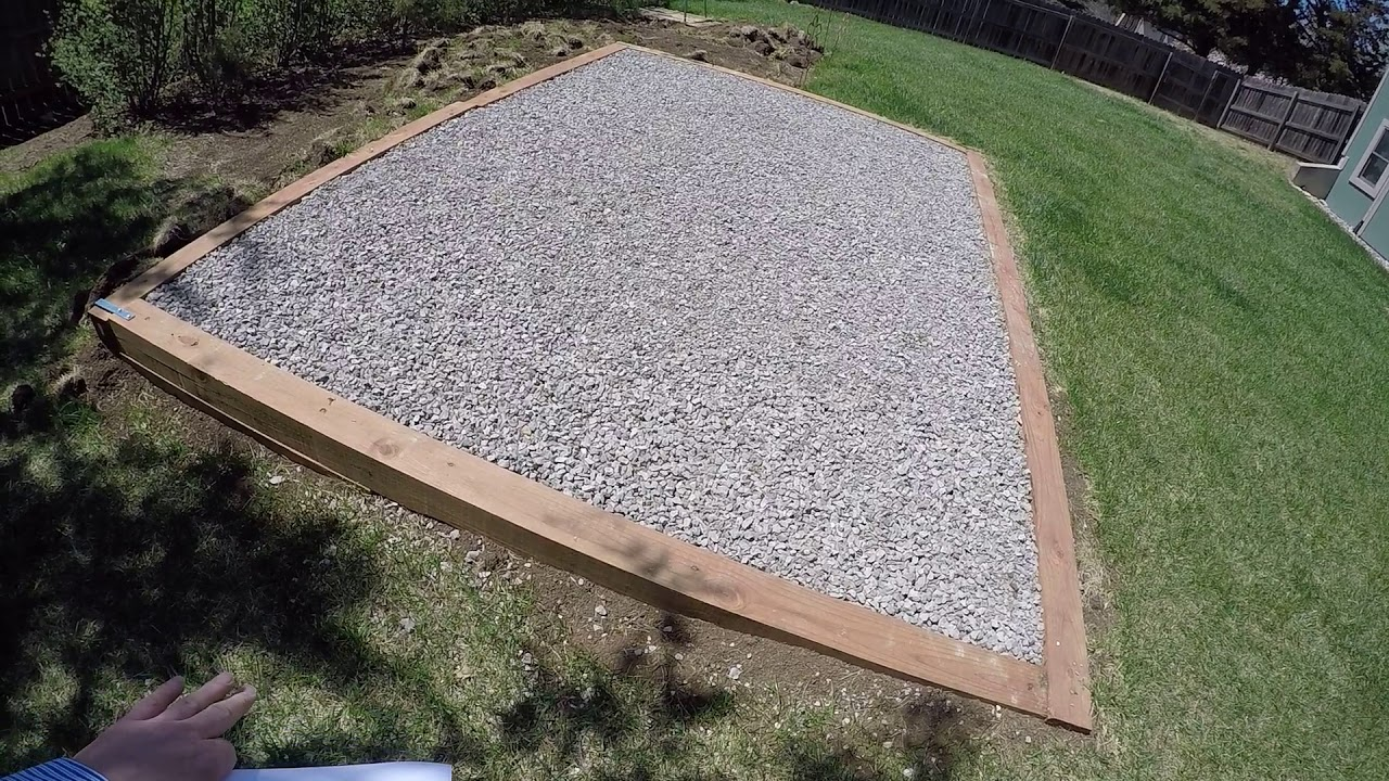 how to make concrete pad for shed