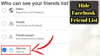 How to Hide Facebook Friend List Easy and Fast | Hide Facebook Friend List