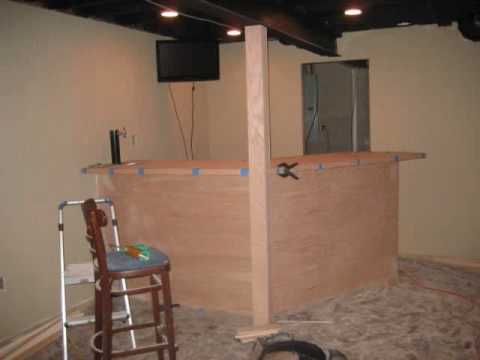 Finishing Basement And Building Bar With A Built In Beer