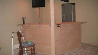 Finishing Basement And Building Bar With A Built In Beer Tap