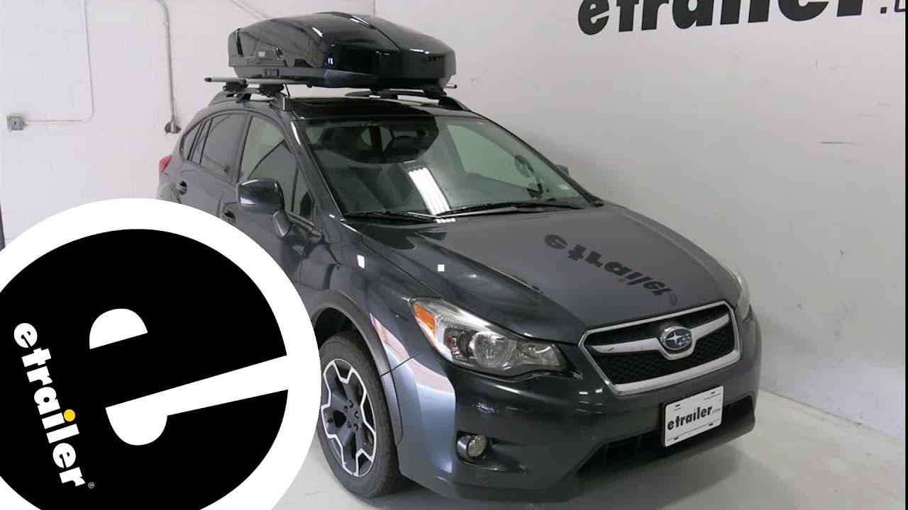 Etrailer Thule Roof Box Review 2014 Subaru Xv Crosstrek Youtube