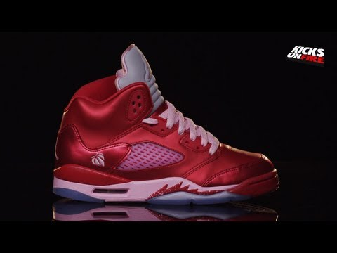 new style 07703 f5ac8 Air Jordan 5 GS - Valentine s Day   For The Love of The Game (360 View)