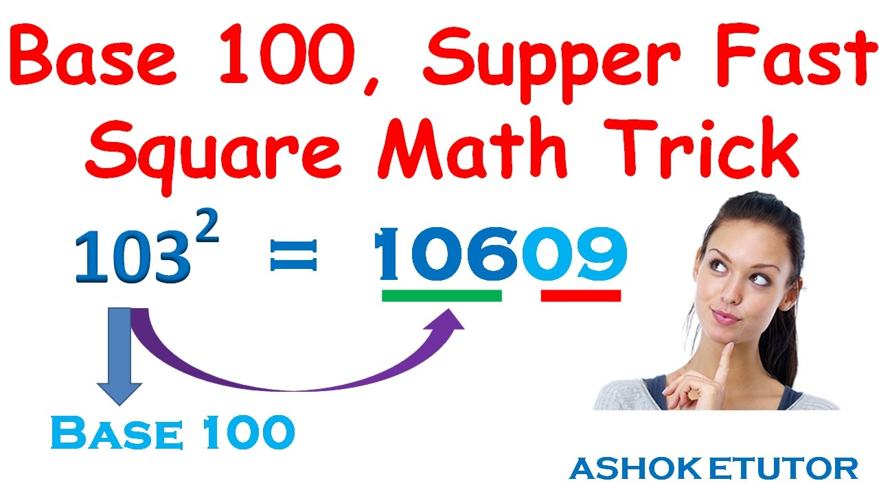 how to find square of any number