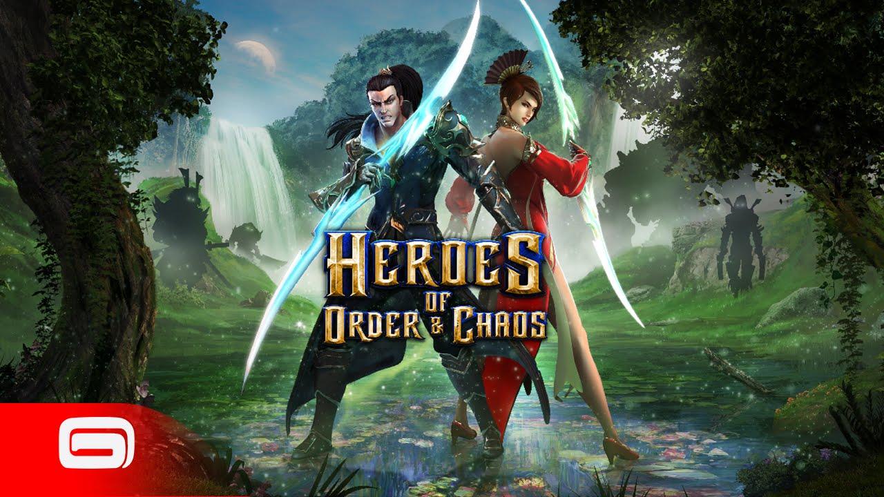 لعبه Heroes of Order & Chaos v3.3.0j مهكره جاهزه