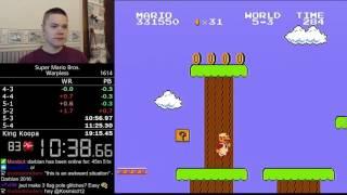 (19:09.17) Super Mario Bros. Warpless speedrun