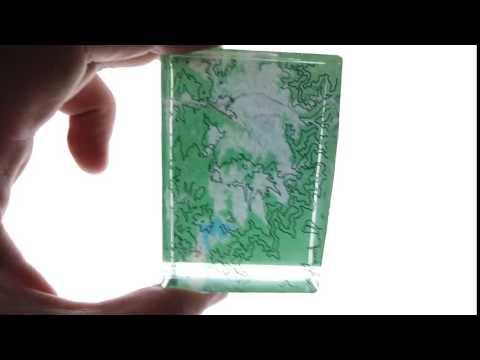 等高線樹脂模型影片