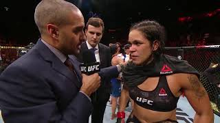 UFC 224: Amanda Nunes Octagon Interview