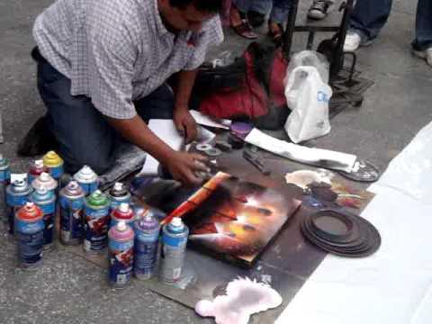 Pintura con aerosol youtube - Pintura con spray ...