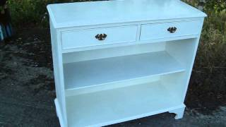 Vintage Painted Shabby Chic Drawer Storage Shelf Unit In Farrow And Ball