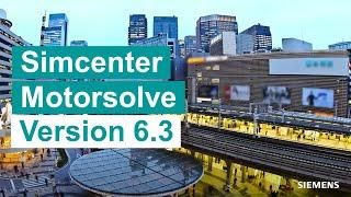Introducing Simcenter Motorsolve v6.3
