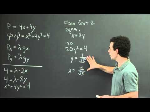 Lagrange multipliers | MIT 18.02SC Multivariable Calculus, Fall 2010