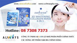 Mặt Nạ Làm Trắng Da Sakura 3d Whitening Collagen Mask 6 in 1