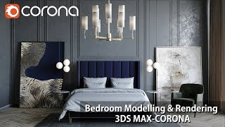 Gambar cover 3ds Max Corona Renderer Bedroom Modelling & Postproduction