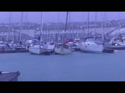 Storm Angus in Brighton Marina