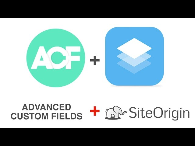 ACF combined with SiteOrigin Page Builder