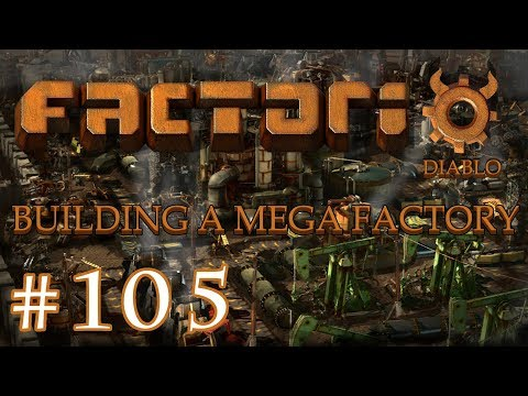 Factorio - Building a Mega Factory: Part 105 finishing the main bus for science.