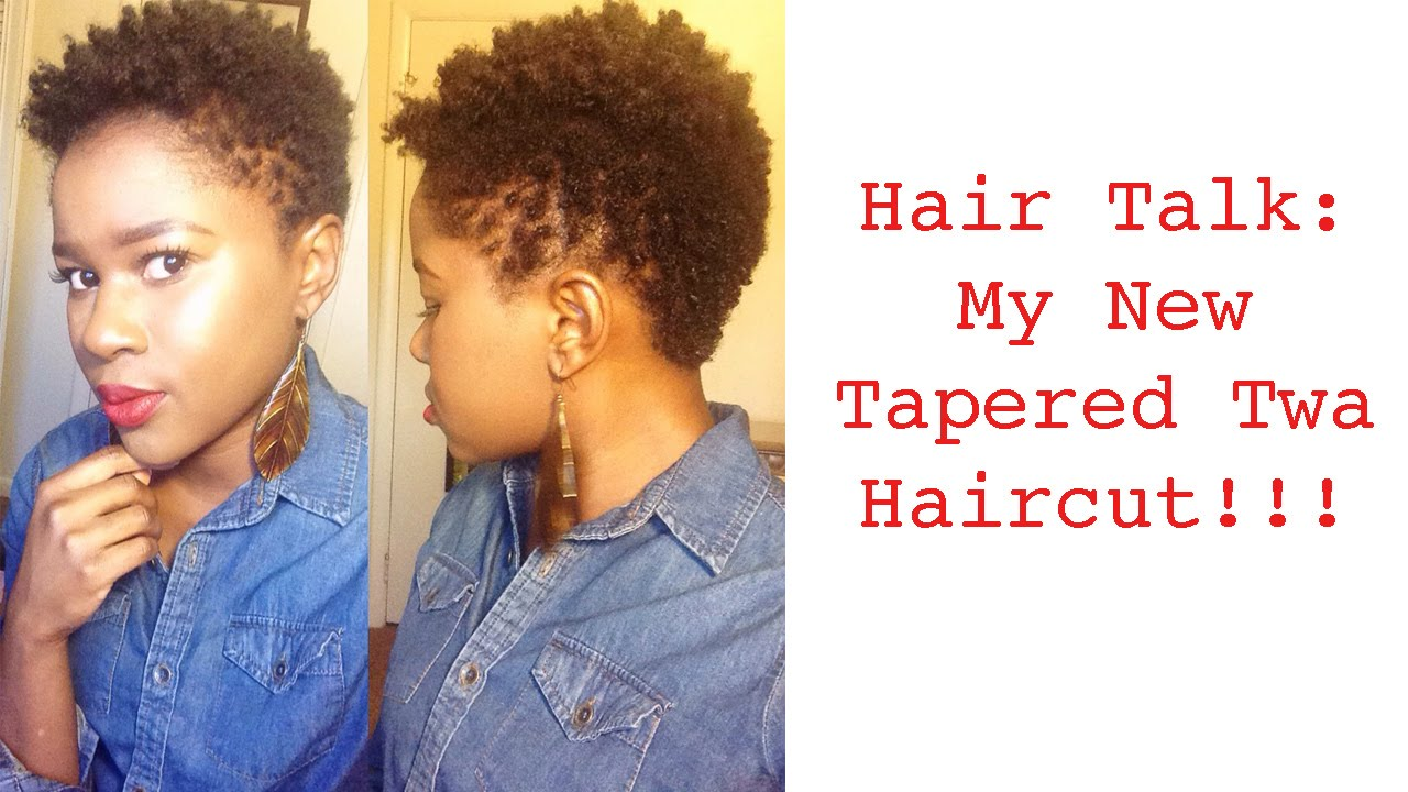My New Tapered Twa Haircut Mona B Youtube