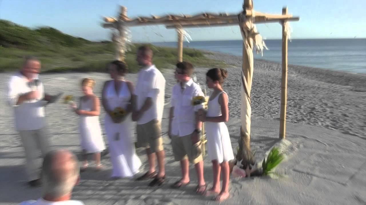 sharkeys fins venice florida small wedding ceremony youtube
