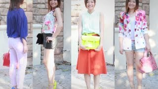 Spring Summer Fashion Trends 2013 and Style Lookbook- Color-blocking and Floral Prints Thumbnail
