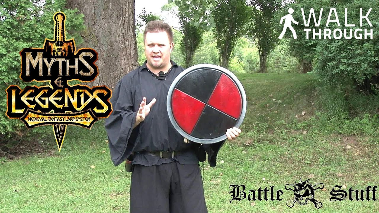 Budget LARP Black & Red Round Shield by Epic Armoury
