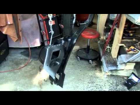 1955 Chevy Truck >> 1955-59 Chevy Cowl/ hinge pillar installation part 1 - YouTube