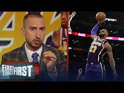 Nick Wright evaluates LeBron's performance in Lakers' win over Pelicans | NBA | FIRST THINGS FIRST thumbnail