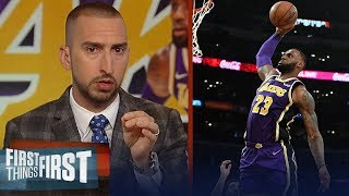 Nick Wright evaluates LeBron's performance in Lakers' win over Pelicans | NBA | FIRST THINGS FIRST