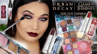 URBAN DECAY X GAME OF THRONES Collection Face Swatches + Review