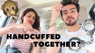 HANDCUFFED TOGETHER + GETTING MY SILVER PLAY BUTTON | Aashna Hegde