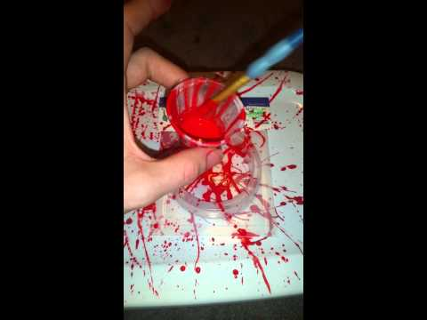 Resin blood splatter tutorial