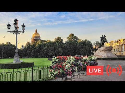 Epic Friday Night Live in ST PETERSBURG, Russia. City ASMR. Summer. People. Music. Live Chat