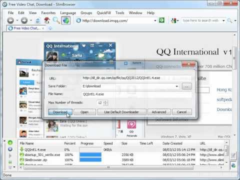 Super-fast Internet Download Manager in SlimBrowser