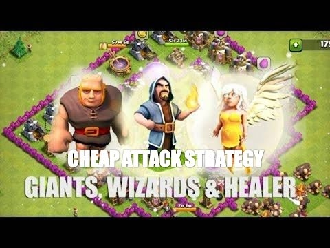 Clash of Clans | TH9 CHEAP AND CUPS WINNING ATTACK STRATEGY | PART 1 ( GIANTS,WIZ,QUEEN WALK )