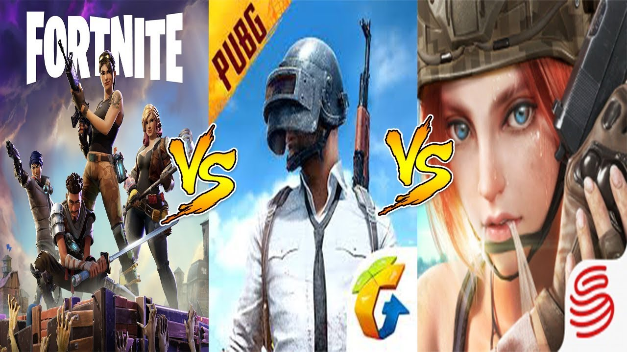 Pubg V Fortnite: PUBG MOBILE Vs FORTNITE MOBILE Vs ROS Gameplay Comparison