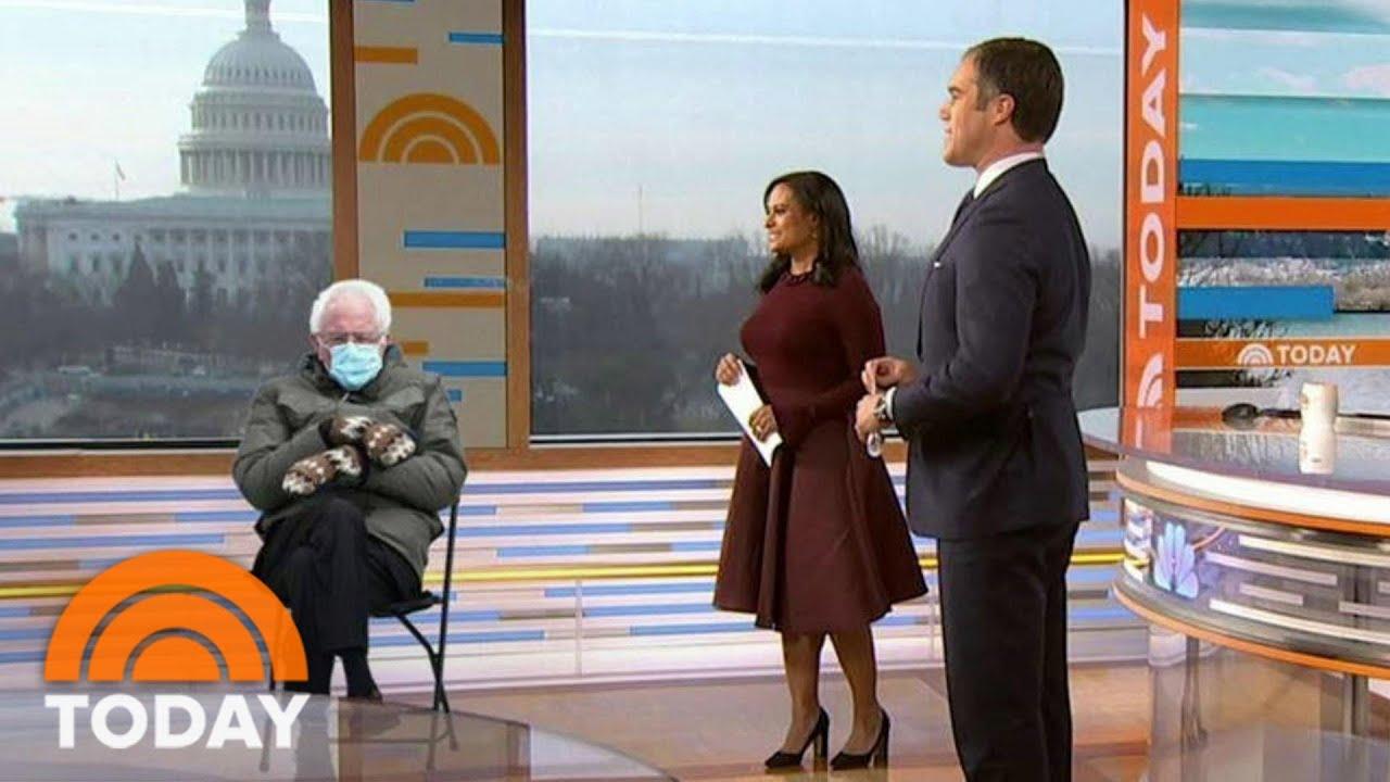 Meme Of Bernie Sanders And His Mittens Lands In Weekend Today Studio Today Youtube
