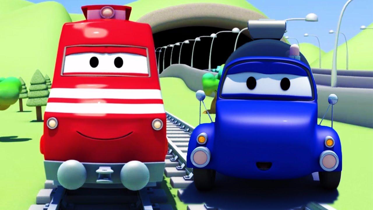 Troy el Tren y el camión cisterna en Auto City | Dibujos animados para niños