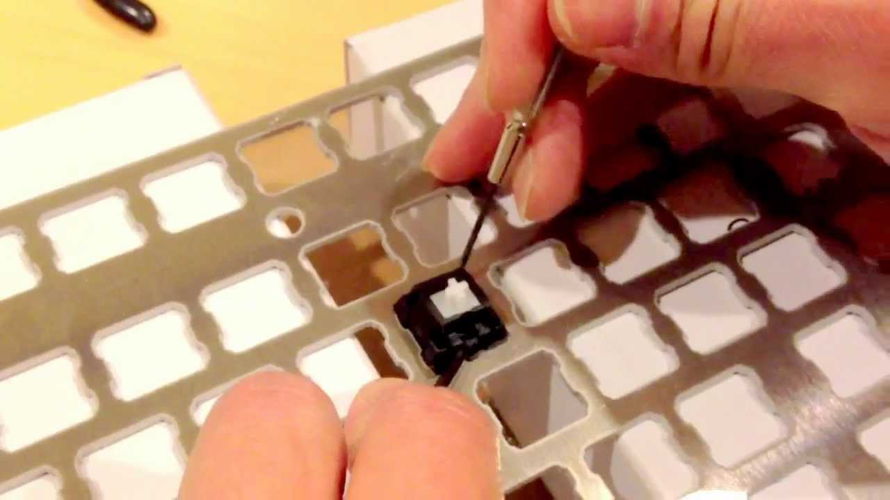 removing switch top from a plate mounted cherry mx keyboard switch