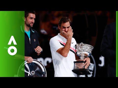 Roger Federer Men's Singles ceremony | Australian Open 2018