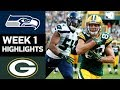 Seahawks vs. Packers   NFL Week 1 Game Highlights