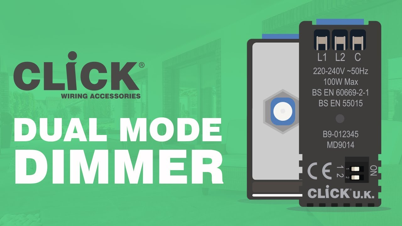 Click Dual Mode Dimmer Switch Youtube Does A Need Special Wiring