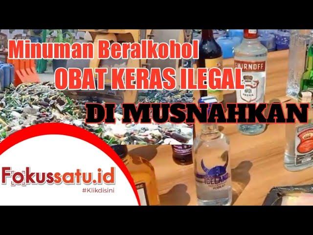 Pemusnahan Minol Dan Obat Keras Ilegal (24/08/21)