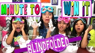 Blindfolded Minute To Win It With Txunamy : CHALLENGES // GEM Sisters